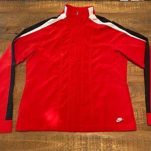 Red Nike Ladies Windbreaker Size L (12-14)